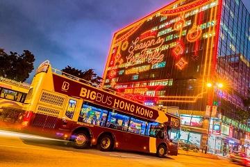 Big Bus Hong Kong Open Top Night Tour
