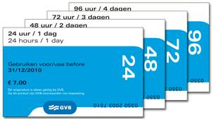 Amsterdam Public Transport Ticket Tickets