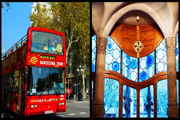 Casa Batllo & Hop on Hop off Bus Barcelona ticket
