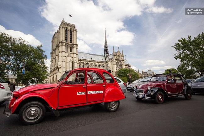 Vintage 2CV Tour Plus 1 Hour Seine River Sightseeing Cruise Tickets