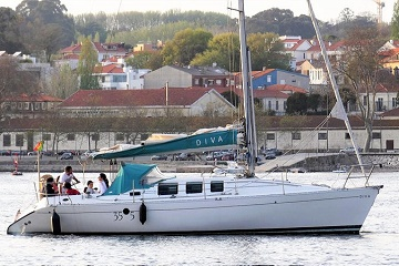 Sailing boat trip on the coast of Porto and on the river Douro