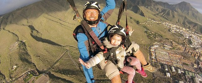 South Tenerife Tandem Paraglide Flight Tickets