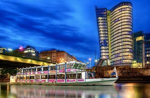 Best Vienna Evening Sightseeing Cruise with Dinner